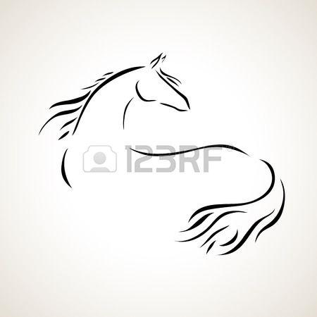 Vettoriale stilizzato figura di un cavallo foto idee for Cavallo stilizzato
