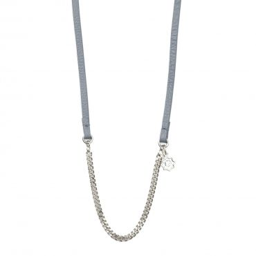 """Starburst Necklette in Silver with Grey Leather - Get 25% off this necklace with code """"foxypin"""" http://www.foxyoriginals.com/Starburst-Necklette-in-Silver-with-Grey-Leather.html Tags: jewelry, imaginary voyage, starbust,  necklace, bracelet, foxy originals"""