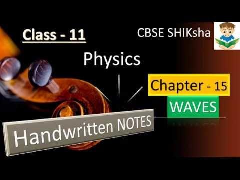 Physics- Class 11: Chapter-15 WAVES (HANDWRITTEN NOTES)-CBSE