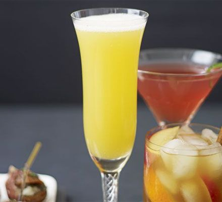 AMARETTO FIZZ:  Mix Disaronno, orange juice and sparkling wine in a jug. Add a strip orange zest to each glass, if you like.