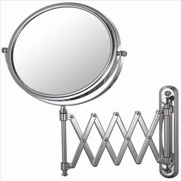 Mirror Image 23345 Arm Wall Mirror Chrome - contemporary - Makeup Mirrors - PoshHaus