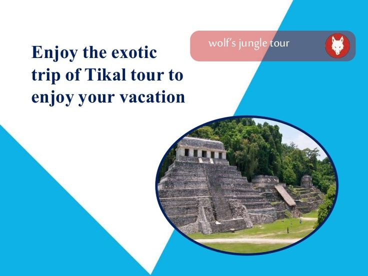 Make your tour in Tikal for holiday memorable.