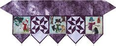 Snow Buds Fireplace Mantle Scarf designed by McKenna Ryan. Features Sugar Plum by McKenna Ryan, in stores now. Pattern available for purchase (pineneedles.com). #sugarplumfabric