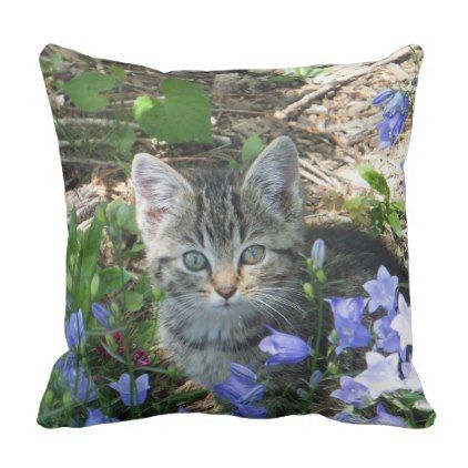 Contented Cat Pillow - home gifts ideas decor special unique custom individual customized individualized