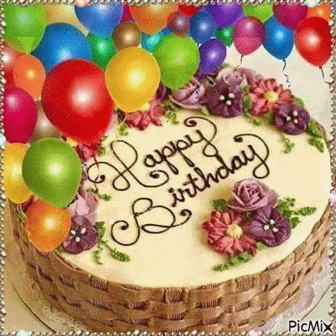 Happy Birthday Birthday Cake GIF - HappyBirthday BirthdayCake Sparkle - Discover & Share GIFs