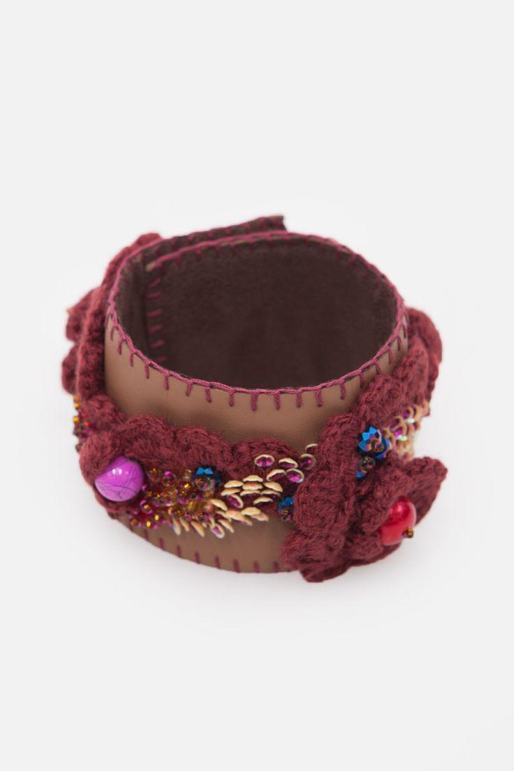 Brown Flower Bracelet
