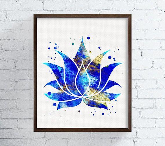 Lot de 3 tirages Lotus Bouddha symbole Om décor par MiaoMiaoDesign