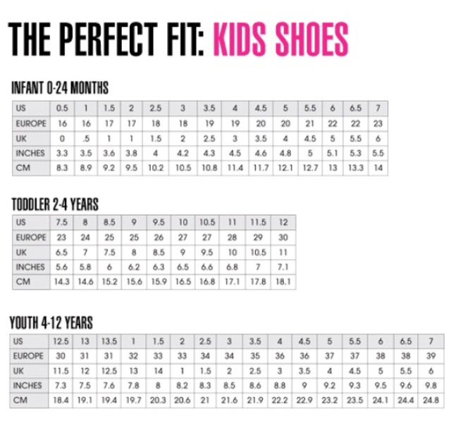 Nike Toddler Sneaker Size Chart Pasteurinstituteindia Com