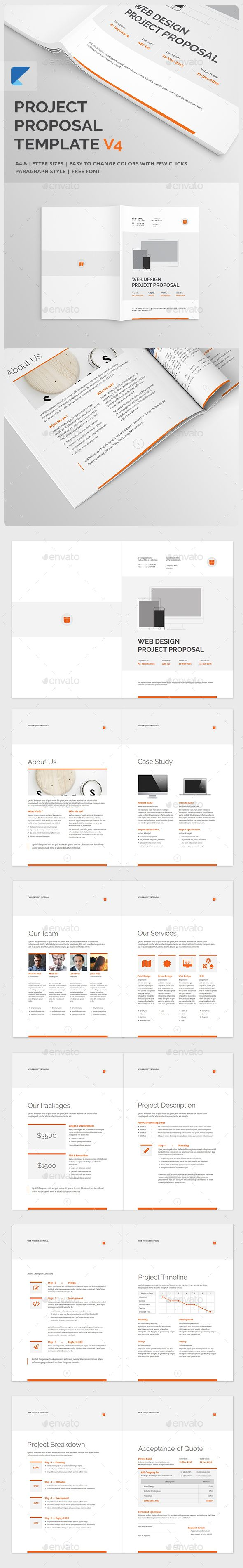 best images about web design quotation project proposal template v4