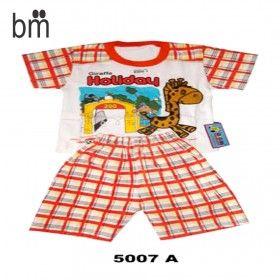 "Kode : 5007 A Harga : Rp. 34.000 Merk : Lonceng Stelan Oblong Co ""Giraffe Holiday"" Size : Allsize u/ 6-12bln"