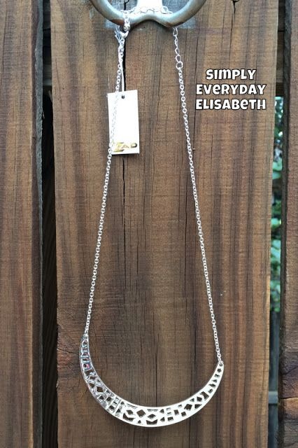 Simply Everyday Elisabeth: September Stitch Fix No. 4 Review Zad Nigel Cut-Out Curve Bar Necklace