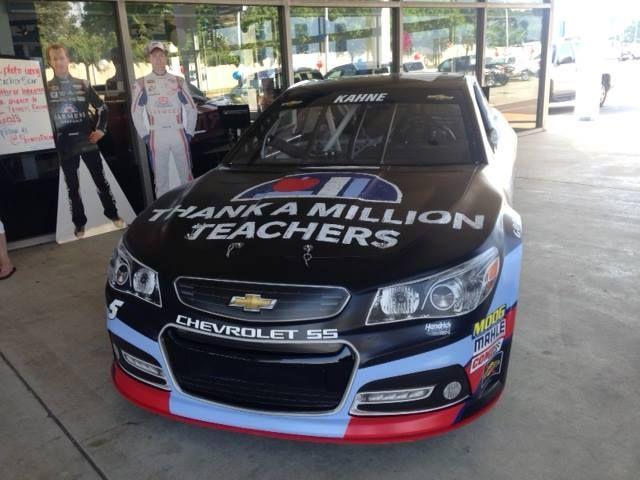 Kasey Kahne's special 'Thank a Teacher' car visited Casey Chevrolet in Newport News VA