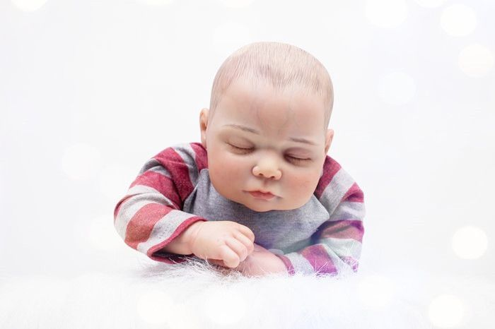 135.37$  Watch here - http://alicqz.worldwells.pw/go.php?t=32715717043 - 55cm Soft Cloth Body Silicone Reborn Baby Doll Lifelike Sleeping Newborn Boy Baby Reborn Doll Birthday Gift Girl Brinquedos 135.37$