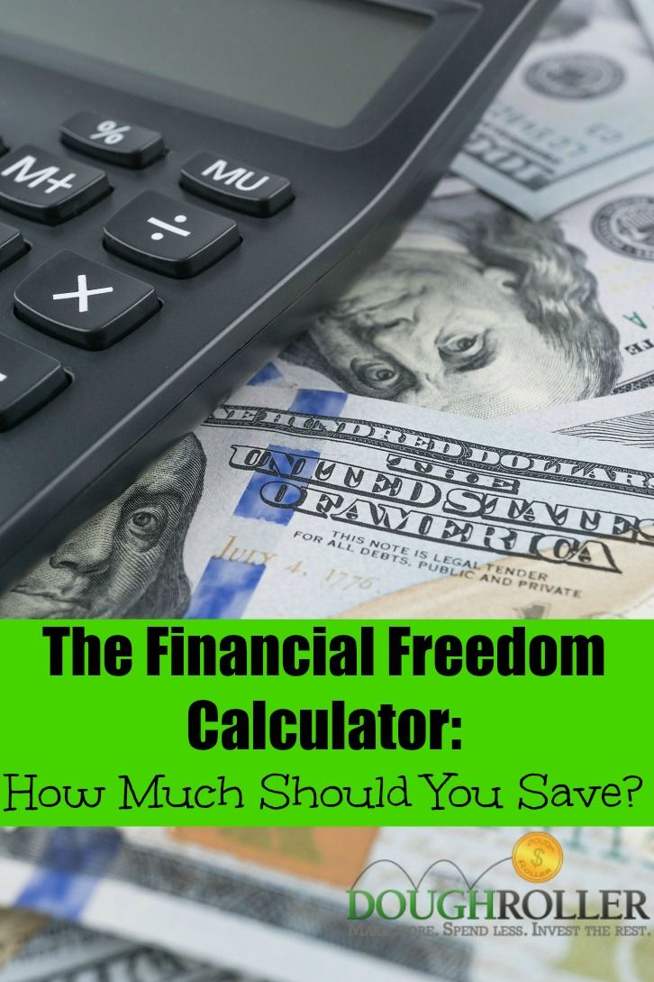 Financial freedom calculator how much should you save