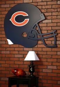 Chicago Bears giant helmet wall art