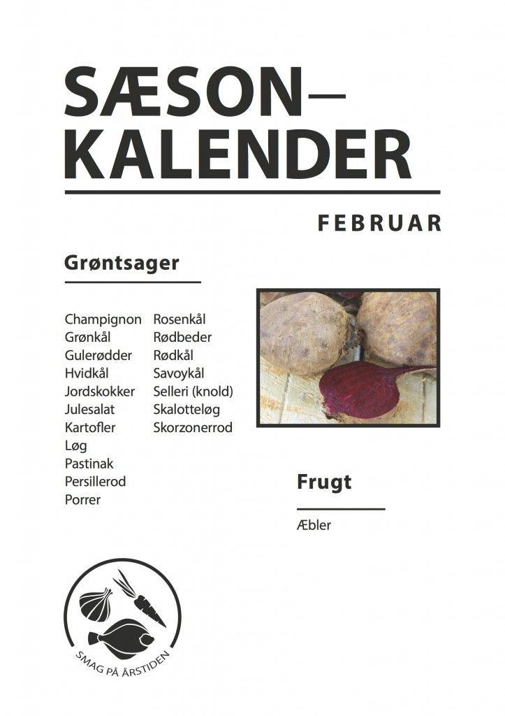 sæsonkalender Februar | Smag På Årstiden