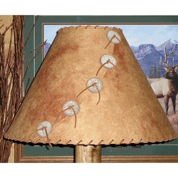 We offer this Chestnut Pinto Lamp Shade and other rustic lamp shades. Browse our rustic furniture catalogs now.  Free Delivery to 48 states.