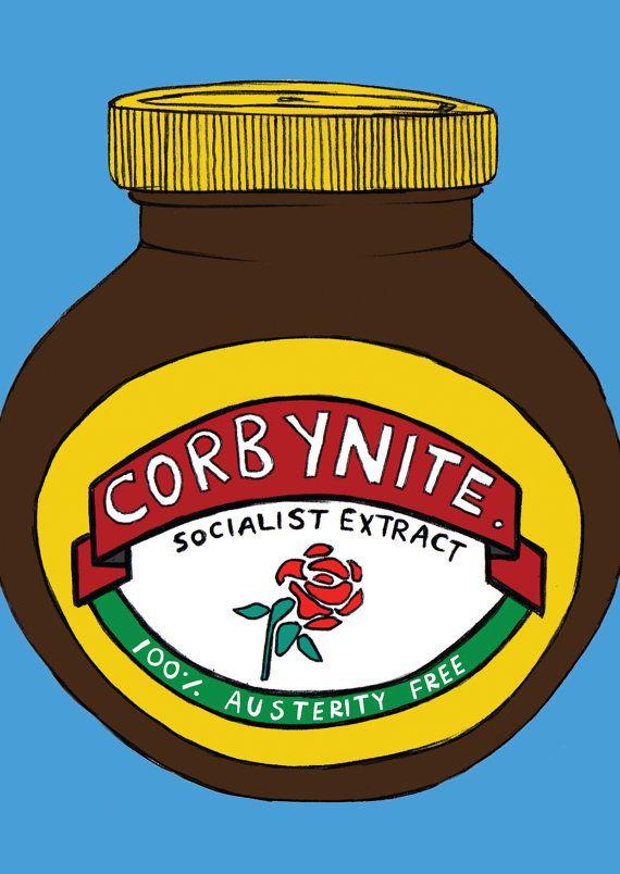 Corbynite Marmite Postcard