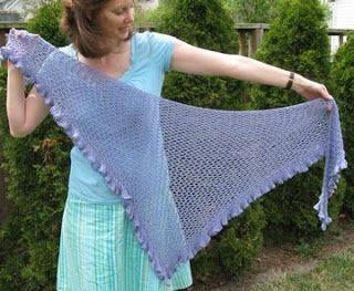 Free Knitting Pattern - Seafoam Shawl from the Lace shawls Free Knitting Patterns Category and Crocheting Patterns