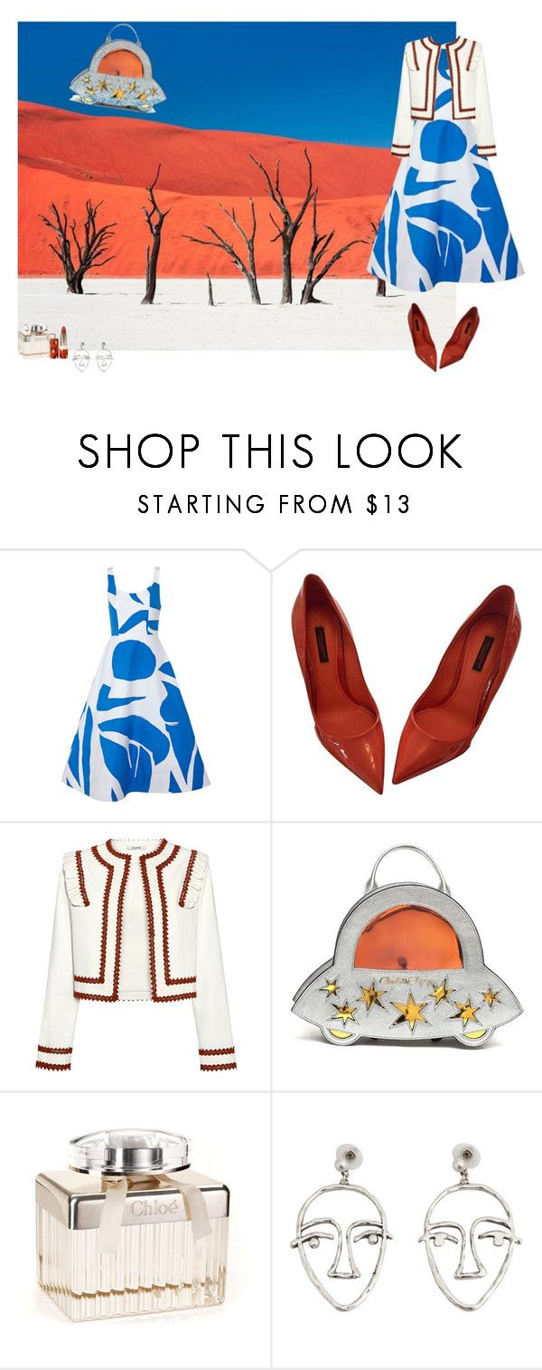 """""""Ufo"""" by fufuun ❤ liked on Polyvore featuring National Geographic Home, Alice + Olivia, Dolce&Gabbana, Ganni, Charlotte Olympia, Free People, MANGO and Paul & Joe"""