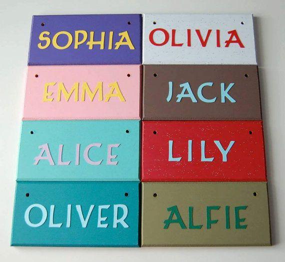 Handmade Personalised Name Door sign  Nursery by FairylandDecor. 29 best Children s Bedroom Door Name plaques Name Signs images on