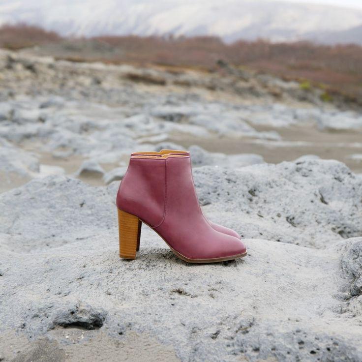 Boots à Talons bordeaux - La Séductrice - Bobbies