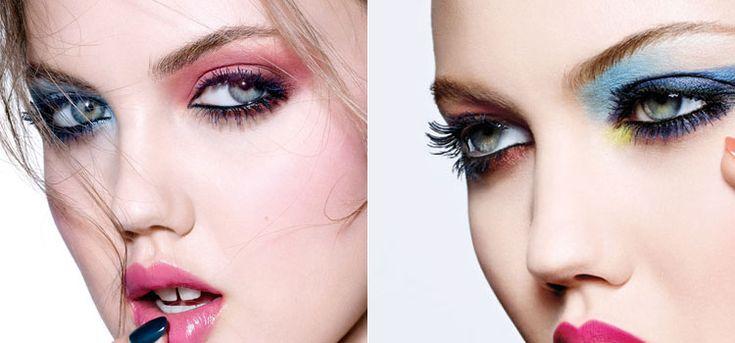 Тенденции в макияже на разноцветные тени на глазах от Dior