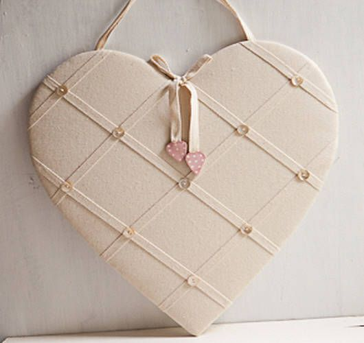 17 best fabric notice boards images on pinterest for Heart shaped bulletin board