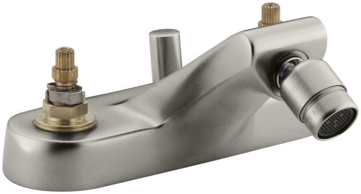 Taboret Centerset Swivel Spray Spout Bidet Faucet, Requires Handles