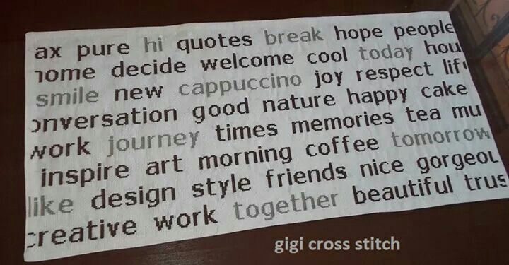 Words inspiration table topper