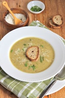 The Italian Dish - Posts - Zucchini Soup with Garlic Toasts -- tried making it this morning and it tastes awesome!