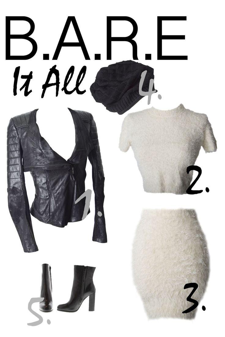 Fashion inspirations from shoppingbare.com fuzzy wuzzy, set, mini skirt, crop top, vegan, leather, jacket, swede, beanie, fall, booties, fashion, womens fashion, style, trend, street wear, dressy, holidays, outfit, inspiration, shoppingbare, clothes