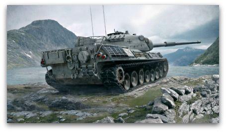 Leopard 1 battle tank hd wallpaper from world of tanks game