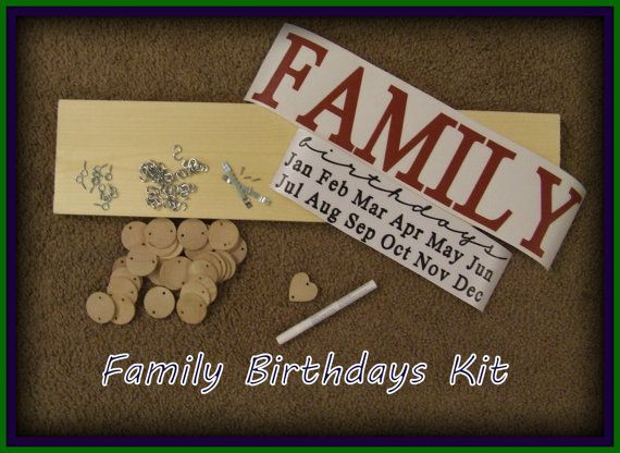 Customized Family Birthday Board Kit Easy To Complete