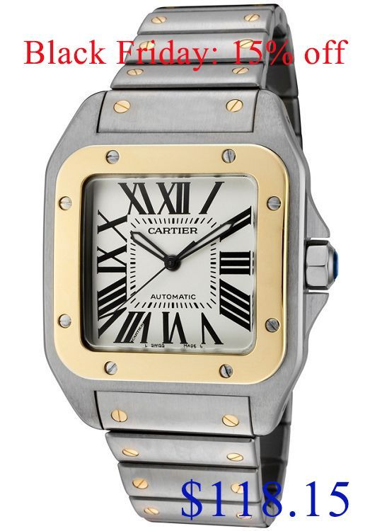 ba8e3e43210 Top quality Replica Cartier Santos 100 Automatic Watch W200728G for men
