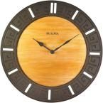 18 in. H x 18 in. W Round Wall Clock, Brown