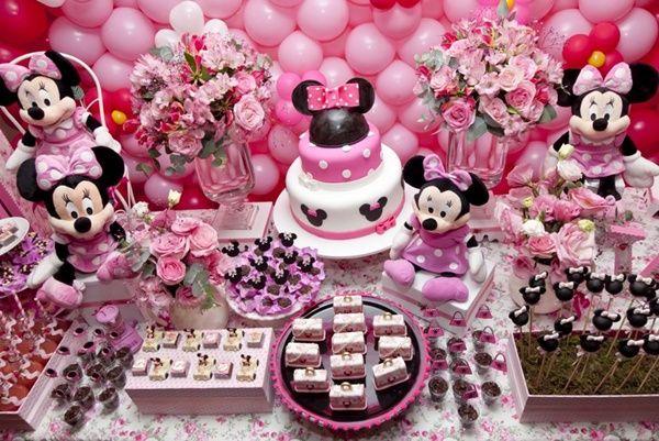 Festa Minnie: com muito rosa!  Minnie Birthday Party: pink all over it!