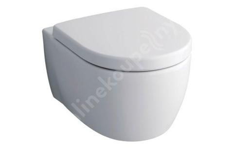 Keramag iCon - Závěsný klozet bez splachovacího kruhu, 350 mm x 530 mm, bílý - klozet, s KeraTect 204060600