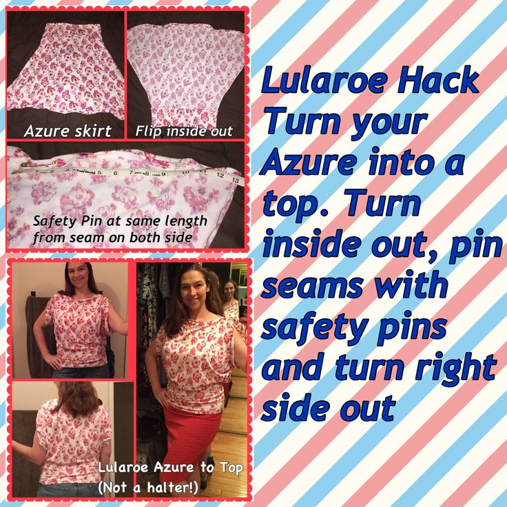 People are so darn creative, I've considered this with my super cute Azure print LuLaRoe skirt.
