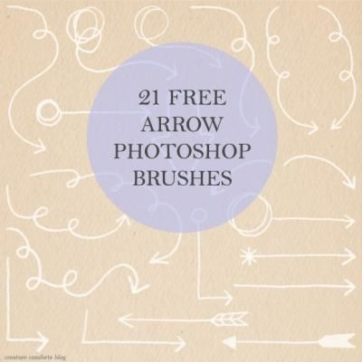 Free Photoshop Brushes {Digi Scrapbooking}Arrows Photoshop, Photoshop Brushes, Free Photoshop, Fashion Style, Free Download, Free Arrows, Creatures Comforters, Food Recipe, Diy Projects