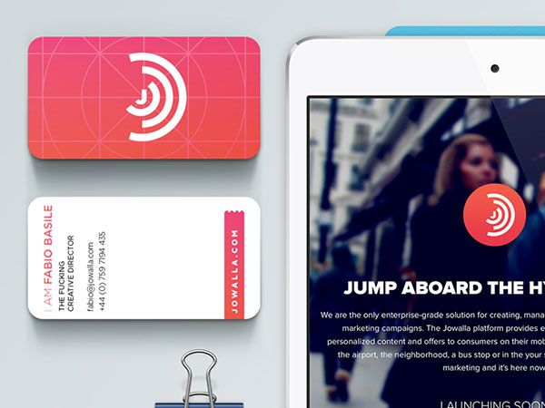 Rounded edges match with tablet - all design is highlighting digital nature of business