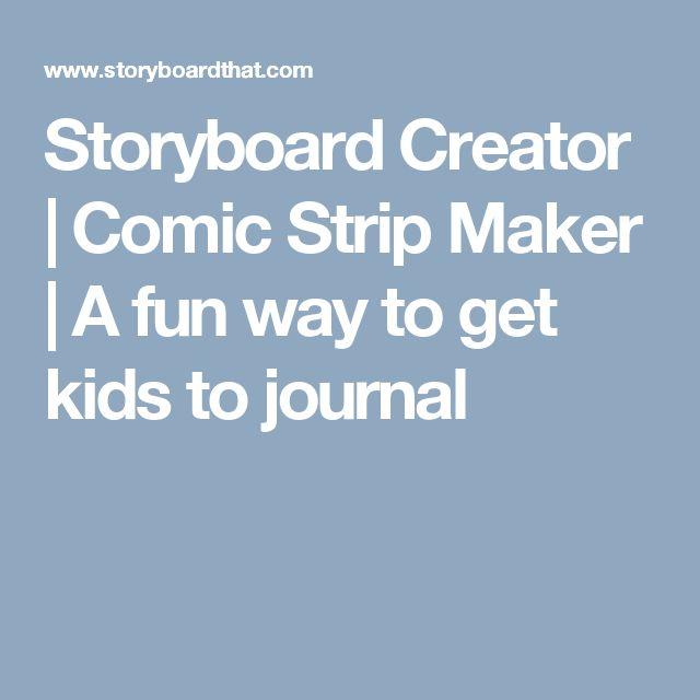 Storyboard Creator | Comic Strip Maker | A fun way to get kids to journal