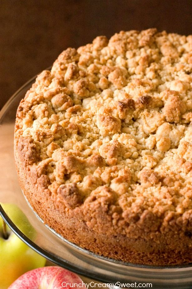Amazing apple cake with the best crumb topping!