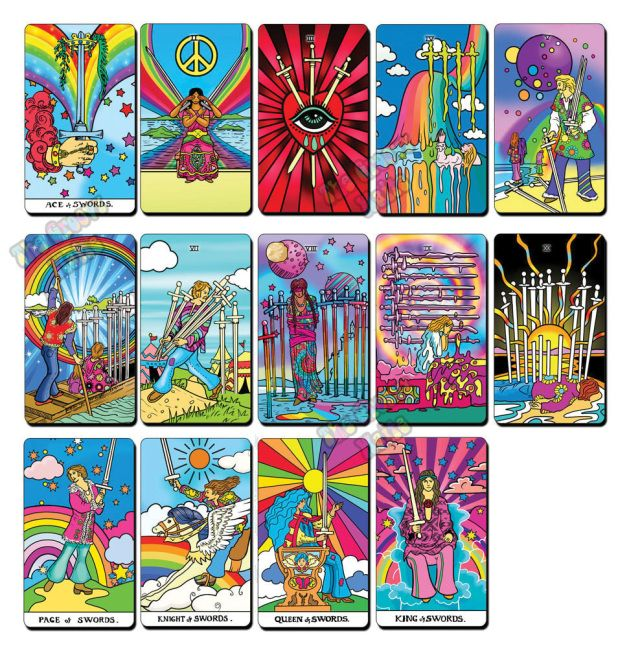the groovy waite  preorder  unique tarot cards game