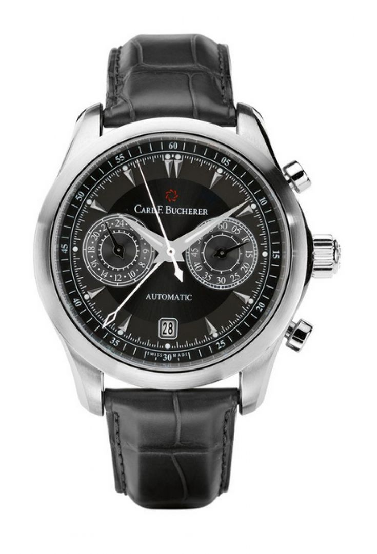 Carl F. Bucherer 00.10910.08.33.01 Manero CentralChrono - швейцарские мужские часы наручные, стальные, черные