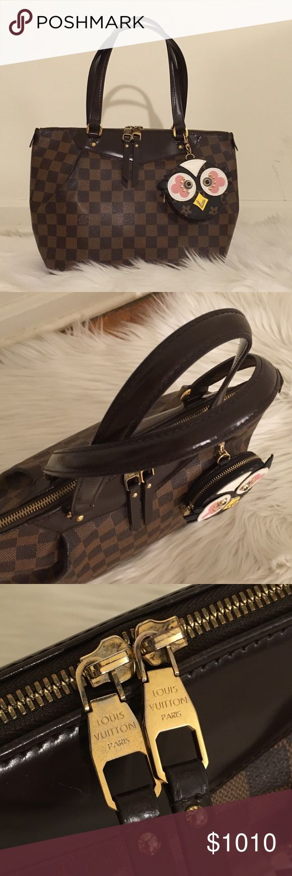 Authentic Louis Vuitton Westminster pm Guc. Authentic Westminster pm bag, does shows sign of used hardware have discoloration, leather aging, bottom corner slightly aging, inside have normal sign of used. Perfect for everyday used, comes with regular dust bag. NOTE: Owl coin purse is not LV and its included Louis Vuitton Bags Shoulder Bags