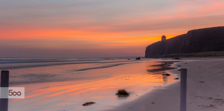 Downhill Beach Sunrise view on the Mussenden Temple by Glen Sumner on 500px