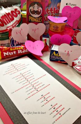 an affair from the heart:  College Care Package - Valentine Style