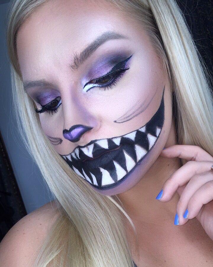 Halloween makeup art, Cheshire Cat from Alice in wonderland