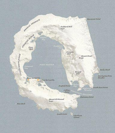 Deception Island, Antarctic Ocean. From the Atlas of Remote Islands